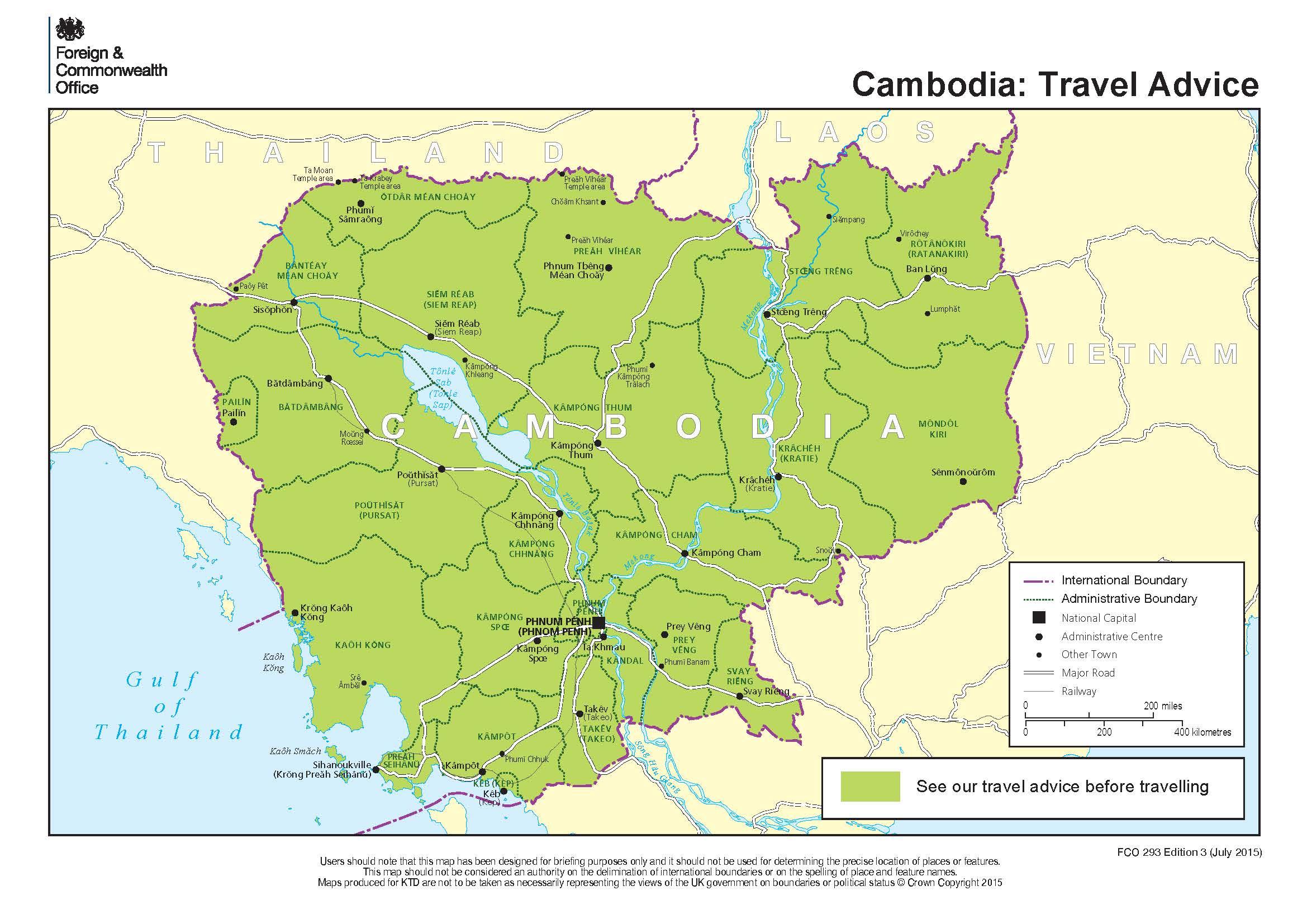 190113 cambodia travel advice map